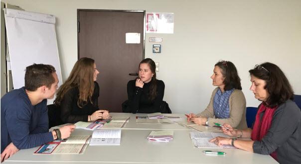 Niederländische Auszubildende aus Eindhoven